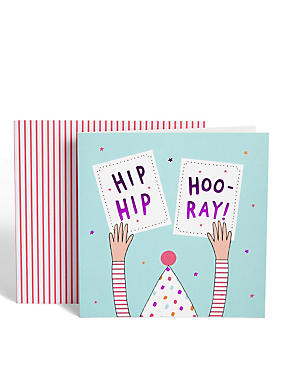 Hip Hip Hoo-Ray Birthday Card
