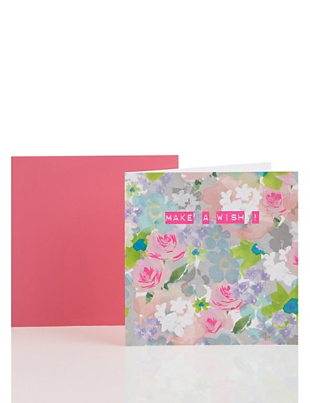 Pastel Floral Birthday Card