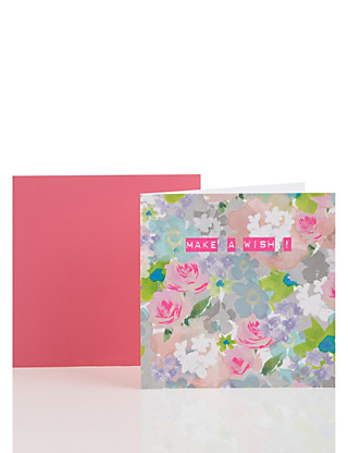 Pastel Floral Birthday Card Home