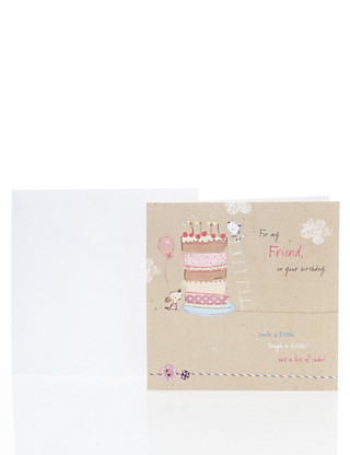 Cute Friend Birthday Card Home