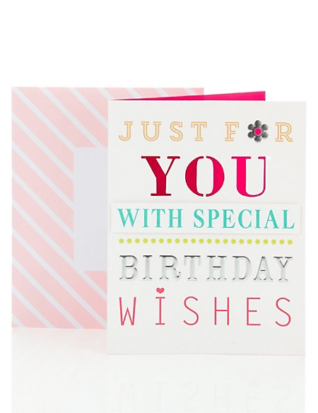 Open Recipient Birthday Card