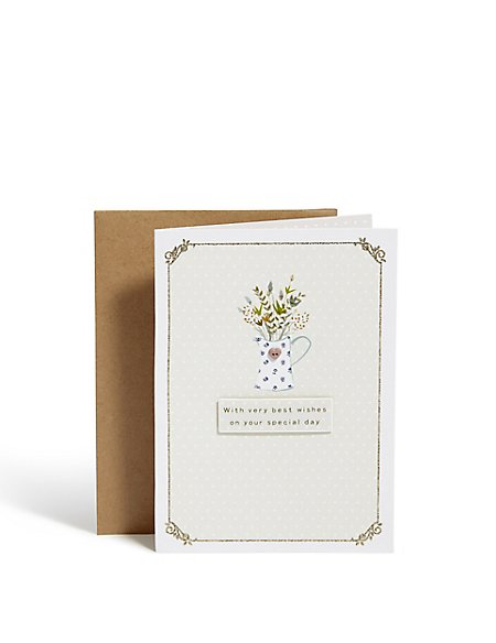 Traditional Flowers Birthday Card