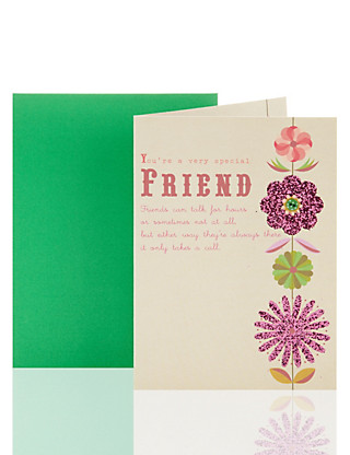 Special Friend Floral Birthday Greetings Card Home