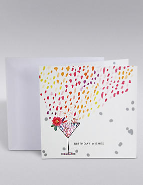 Colourful Cocktail Glass Card