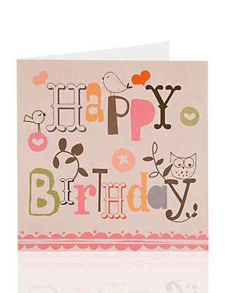 Value Birds Birthday Card For Her Home