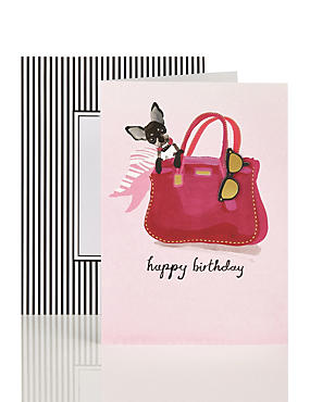 Dog with Scarf Birthday Card