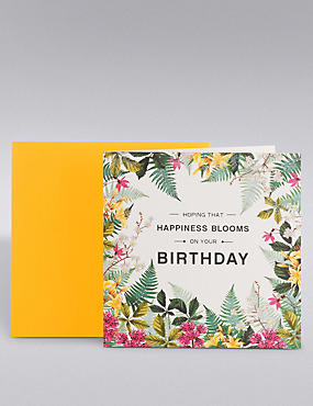 Happiness Blooms Birthday Card