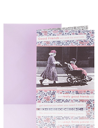 Ladies Wheelchair Friend Birthday Greetings Card Home