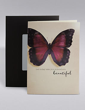 Beautiful Butterfly Birthday Card