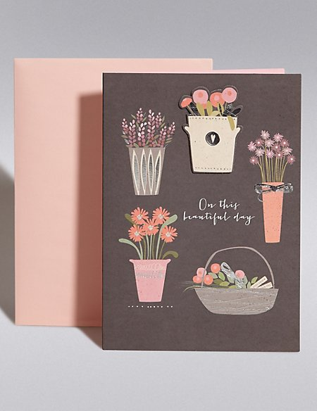 Beautiful Day Plant Pots Cards