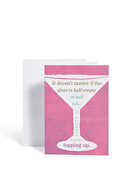 Cocktail Humour Card