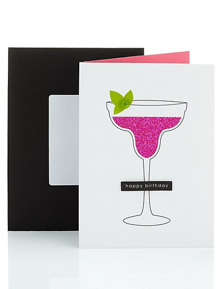 Glitter Cocktail Birthday Card