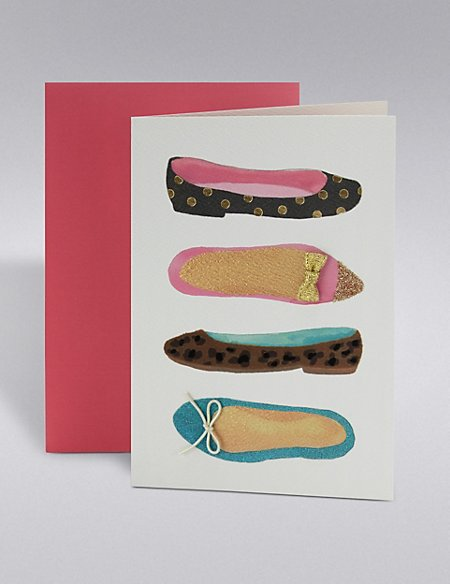 Shoe Birthday Card