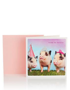Party Pigs Birthday Card