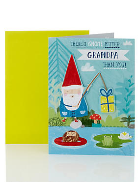 Gnome Fishing For Gifts Grandpa Card
