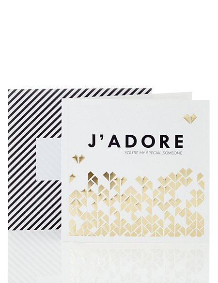 J'Adore Gold Hearts Card