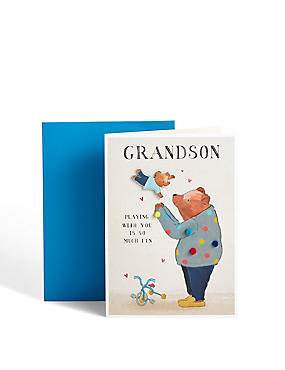 Cute Bears Grandson Birthday Card