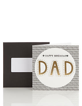 Graphic Letters Dad Birthday Card