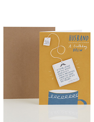 Cup of Tea Husband Birthday Card Home