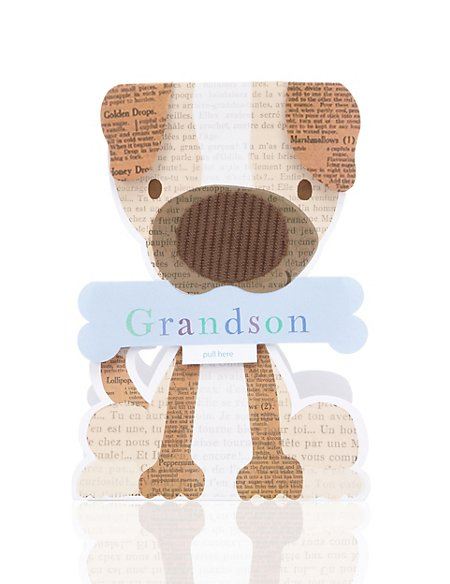 Patch Dog Grandson Birthday Card
