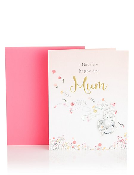 Illustrated Mouse Butterfly Mum Birthday Card
