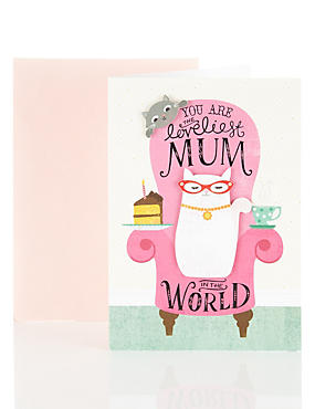 The Loveliest Mum Cat Birthday Card