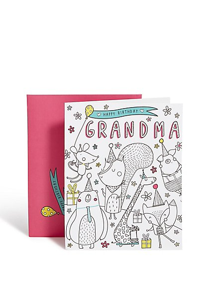 Grandma Colour in Birthday Card