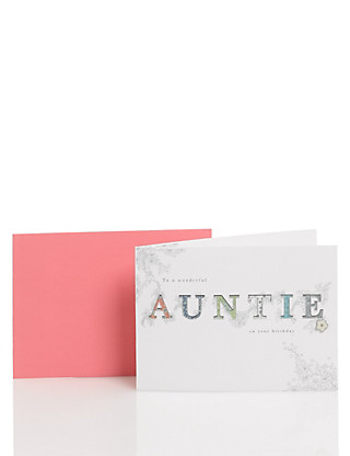 Classic Auntie Birthday Card Home