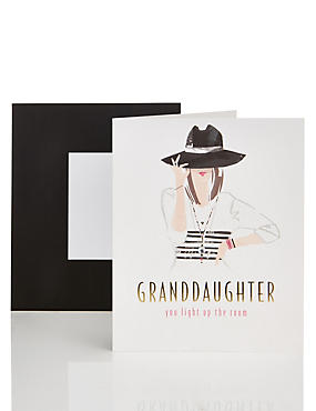 Stylish Granddaughter Card