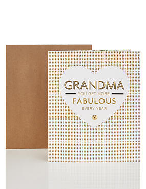 Fabulous Grandma Card