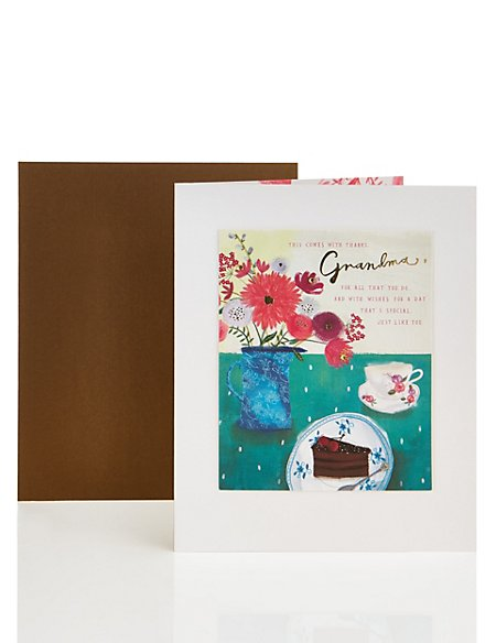 Grandma Floral Birthday Card