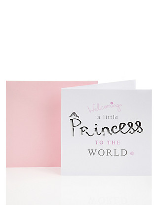 Little Princess Baby Girl Greetings Card Home