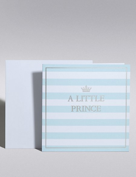 New Baby Boy Prince Card