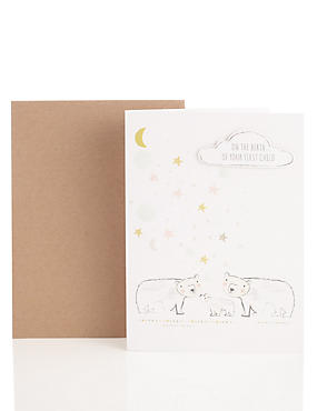 First Baby Congratulations Polar Bears Card