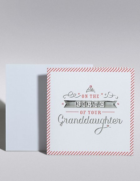 New Baby Granddaughter Card