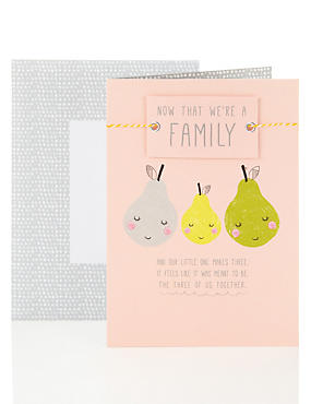 Our Family New Baby Card to Partner