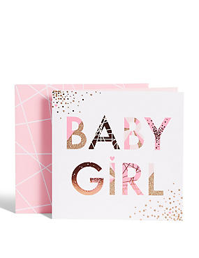 Bright New Baby Girl Card