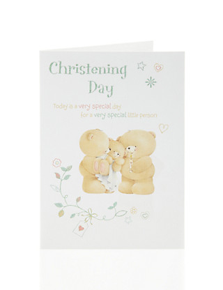 Forever Friends Christening Day Card Home
