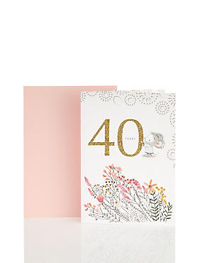 40th Birthday Illustrated Mouse Card