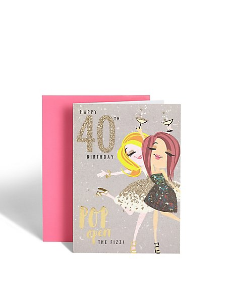Dotty Daisy 40th Birthday Card