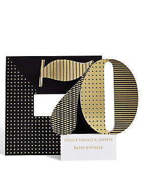 Age 70 3-D Pop Up Birthday Card