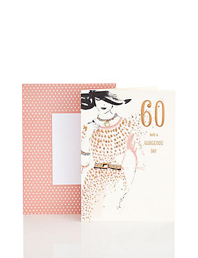 60th Birthday Sophisticated Lady Card