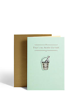 Champagne Bucket List Card
