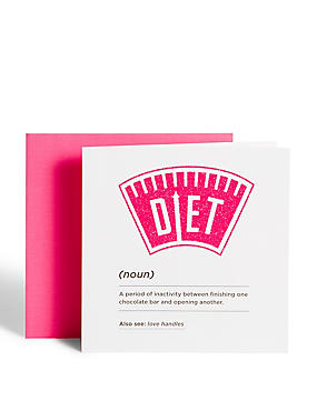 Diet Dictionary Quote Card