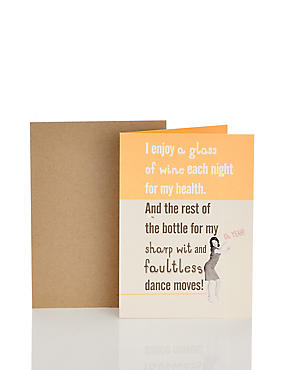 Wine & Dance Moves Humour Card