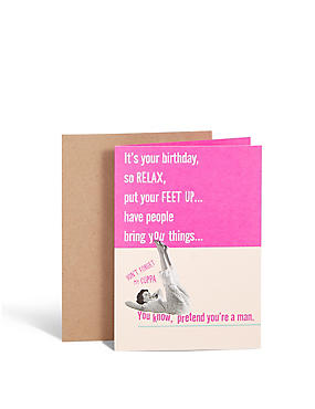 Put your Feet Up Card
