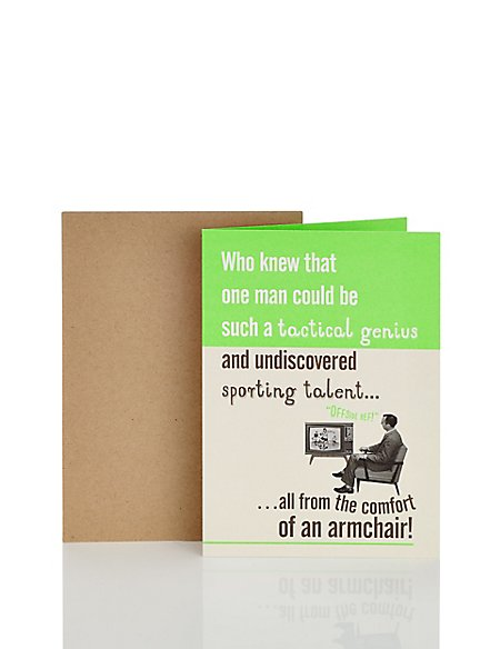 Sporting Talent Humour Card