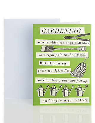 Humorous Gardening Blank Card Home