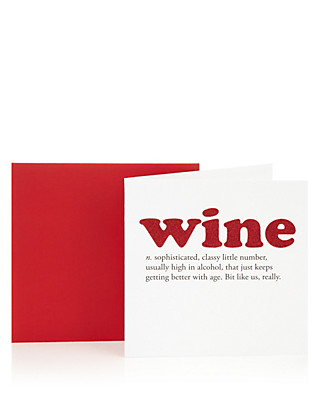 Wine Definition Birthday Greetings Card Home