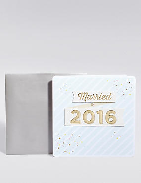 Married in 2016 Card